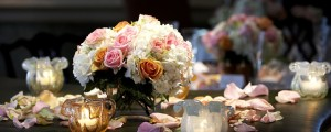 mrorange002061100115.jpg - a bouquet of flowers with candles taken during a wedding event